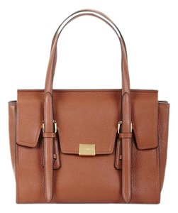 BCBGMAXAZRIA Leather Pebbled Grained Leather Luxury Satchel in Brown