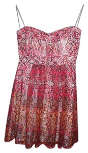 My Michelle short dress Red Ombre Lace Strapless on Tradesy