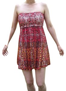My Michelle short dress Red Ombre Lace Strapless Autumn Fishnet on Tradesy