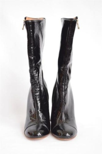 Goldenbleu Patent High Heel Blacks Boots
