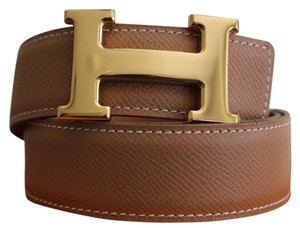 Hermès 32/80CM CLEARANCE SALE Auth. Hermes Reversible Belt Kit Gold Buckle