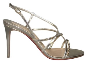 Christian Louboutin Gwinispike 85mm Evening Spike Metallic Light gold Sandals