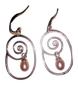 Other New Sterling Silver With Fresh Water Pearl Earrings