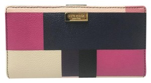 Kate Spade New Grant Street Grainy Vinyl Stacy Wallet in Colorblock Party Color