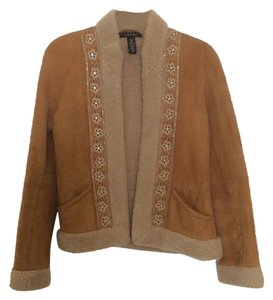 Laundry by Shelli Segal Tan Leather Jacket