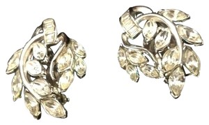 Trifari Crown Rhinestone clip-on earrings