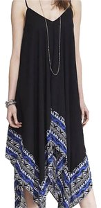 Black with blue and white Maxi Dress by Express