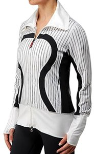 Lululemon And White Color Block White, Black Jacket
