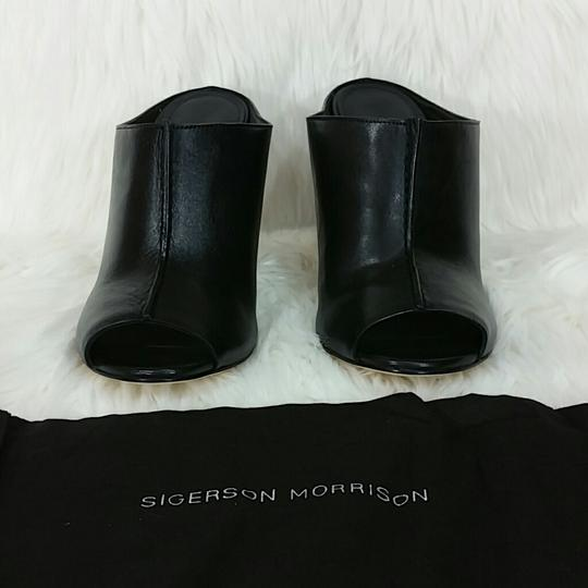 Sigerson Morrison Modern Leather Chic Luxury Mules Image 4