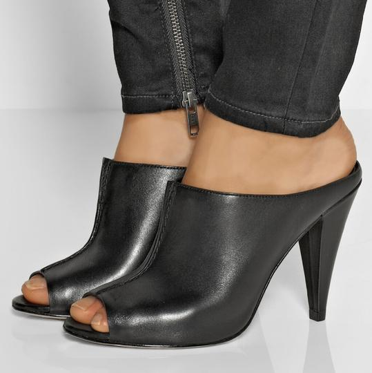 Sigerson Morrison Modern Leather Chic Luxury Mules Image 6