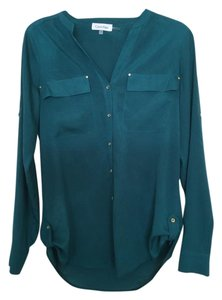 Calvin Klein Long Sleeve Career Top Green