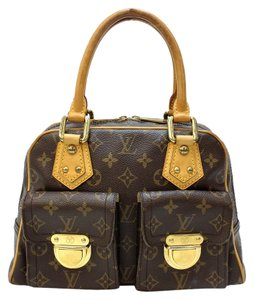 Louis Vuitton Monogram Manhattan Pm Satchel in Brown
