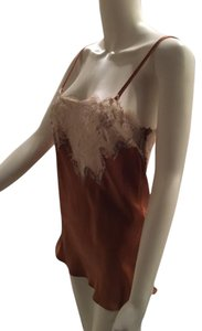 Dolce&Gabbana Lingerie Emerald Green Silk Beige Top Copper and Ivory lace