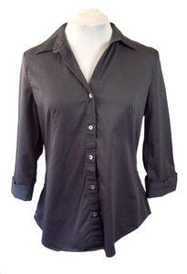 Banana Republic Button Down Shirt Gunmetal Gray