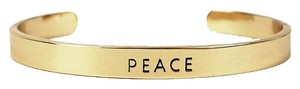 Nasty Gal Kitsch Gold Peace Idiom Cuff Bracelet Bangle