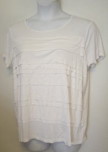George Knit Short Sleeve Stretch Top Ivory