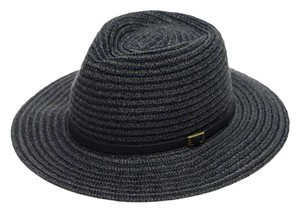 Urbanista Leather Trim Panama Fedora - Dark Grey