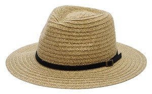 Urbanista Leather Trim Panama Fedora - Natural