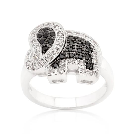 Other Cubic Zirconia Petite Elephant Ring [SHIPS NEXT DAY] Image 1