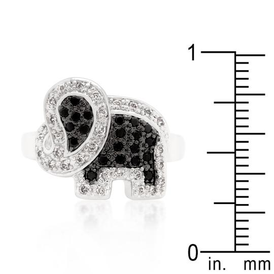 Other Cubic Zirconia Petite Elephant Ring [SHIPS NEXT DAY] Image 2
