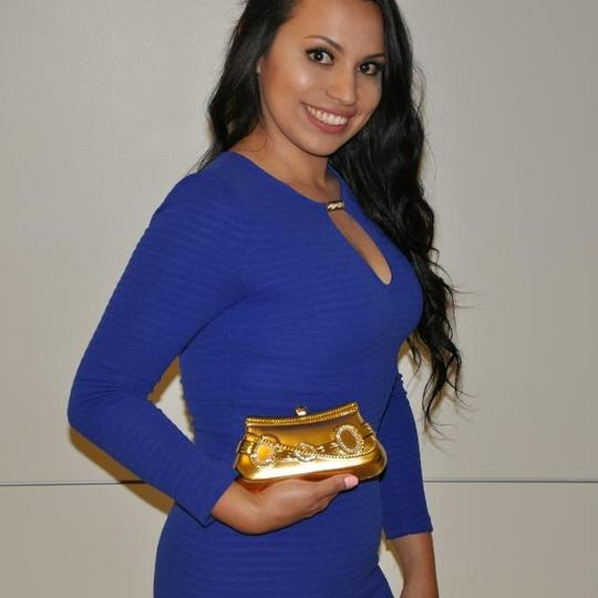 Other Evening Evening Metal Accessories GOLD Clutch Image 2