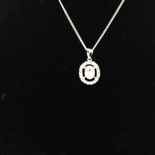 Other Cubic Zirconia Oval Earrings and Necklace Set [SHIPS NEXT DAY] Image 5