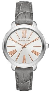 Michael Kors Michael Kors Women's Hartman Grey Leather and Stainless Steel MK2479