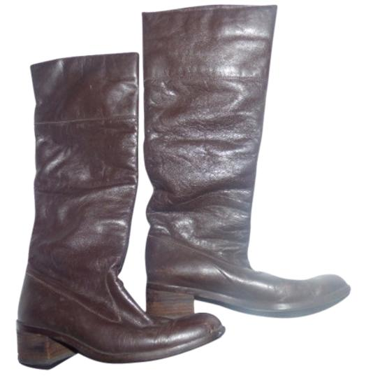 Preload https://img-static.tradesy.com/item/18755272/pappagallo-brown-leather-vintage-shoesdesigner-bootsbooties-size-us-7-wide-c-d-0-1-540-540.jpg