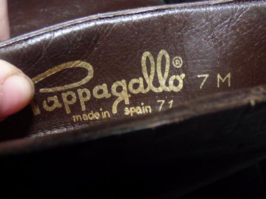 Pappagallo Retro Look Almond Toes Square Low Heels Pull Excellent Condition brown leather Boots Image 2