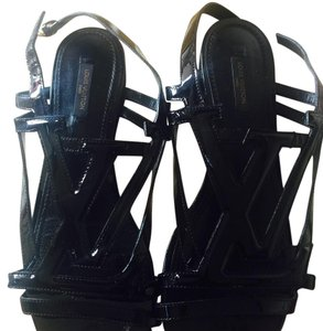 Louis Vuitton Black Sandals