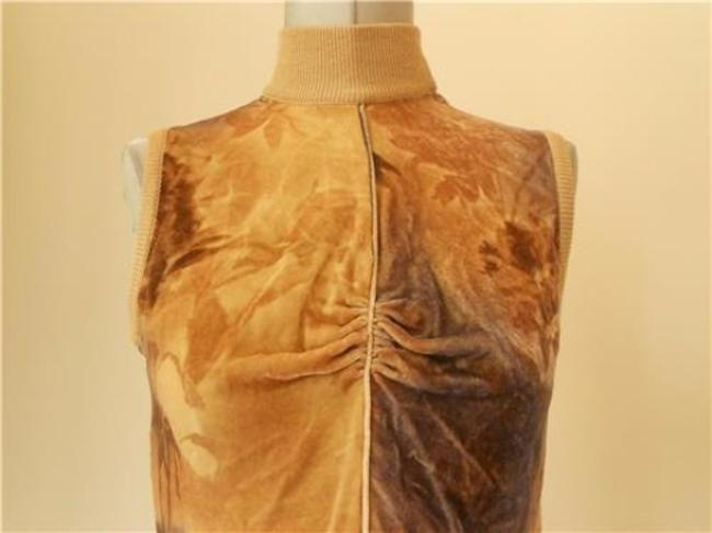 Emanuel Ungaro 'parallele Excellent Vintage Sleeveless Mock-t Neck Dressy Or Casual Top yellows and browns Image 1