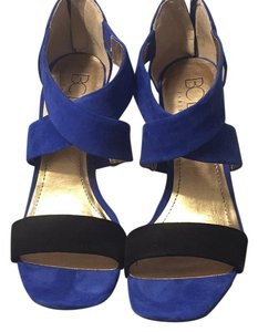BCBG Paris Black/Royal Blue Platforms