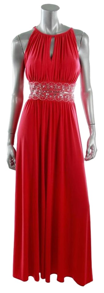 R M Richards Misses Estelle S Dressy Dresses In: R & M Richards Red Long Formal Dress Size Petite 10 (M