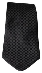 Louis Vuitton NEW Damier Black Patterned Silk Tie 2886