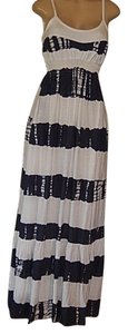 white and dark gray Maxi Dress by Letarte Swimwear New With Tags Letarte Hawaii Maxi Fun Cool Straps /gray