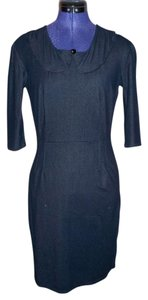 Fashions by Katie short dress Blue Stretchy Denim Peter Pan Collar Fitted 3/4 Sleeve on Tradesy