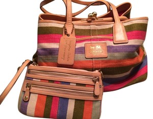Coach Summer Wristlet Wallet Satchel in Multi