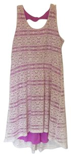 Maurices short dress White and Purple on Tradesy
