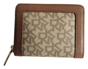 DKNY DKNY Brown Zip Around Wallet with Logo