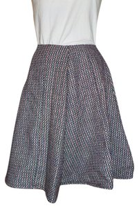Fashions by Katie Tweed Autumn Winter Wool Skirt Black/White/Red