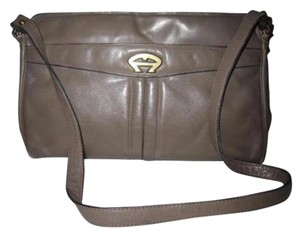 Etienne Aigner Multiple Compartment Great Everyday High-end Bohemian Gold Hardware W Black Trim Shoulder Bag