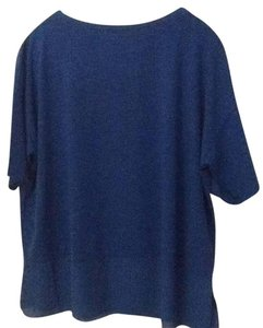 Adrienne Vittadini Trendy Priced To Sell T Shirt Royal Blue