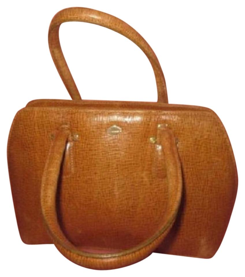 I Santi Xl Satchel Tote Lizard Embossed Perfect For Everyday Excellent Vintage Made In Italy