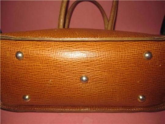 I Santi Xl Satchel/Tote Lizard Embossed Perfect For Everyday Excellent Vintage Made In Italy Satchel in chestnut brown Image 3