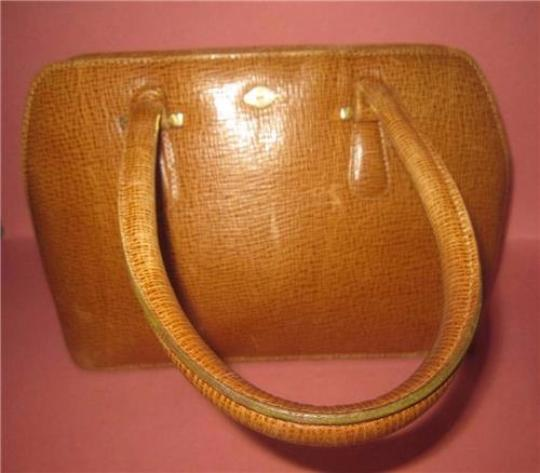 I Santi Xl Satchel/Tote Lizard Embossed Perfect For Everyday Excellent Vintage Made In Italy Satchel in chestnut brown Image 4