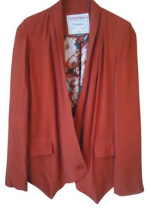 Anthropologie Drape Rust Red Lined Blazer