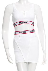 Moschino short dress White, Red, Black Ribbed Monogram Skirt Set on Tradesy