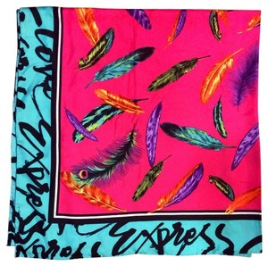Express Feather Print Silk Scarf
