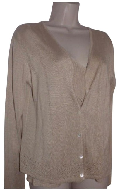 Preload https://img-static.tradesy.com/item/18757927/emanuel-ungaro-pale-taupe-silk-blend-with-pointelle-design-topsdesigner-clothes-cardigan-size-6-s-0-2-650-650.jpg