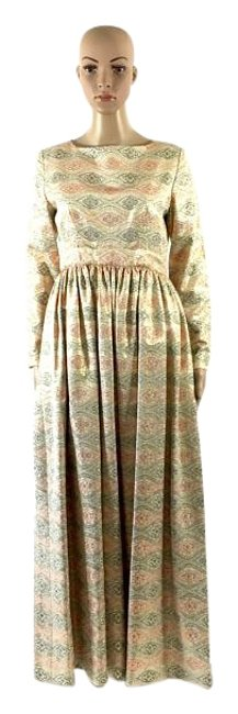 Preload https://img-static.tradesy.com/item/18757984/saks-fifth-avenue-cream-pink-and-gold-vintage-designer-evening-small-long-cocktail-dress-size-4-s-0-1-650-650.jpg